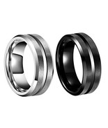 SEXBAY 8MM Wedding Band for Men Tungsten Carbide Ring Engagement Ring fo... - $20.01