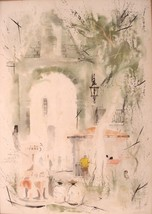Mexican Decor Watercolor Painting Genre Signed Musse Oaxaca Mexico 01271 - $279.00