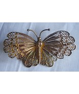 Vintage Filigree Butterfly Brooch Stamped 800 Silver 01294 - $125.00