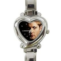 New Hot Jensen Ackles Women Heart Italian Charm Watch wristwatch Gift - $8.50