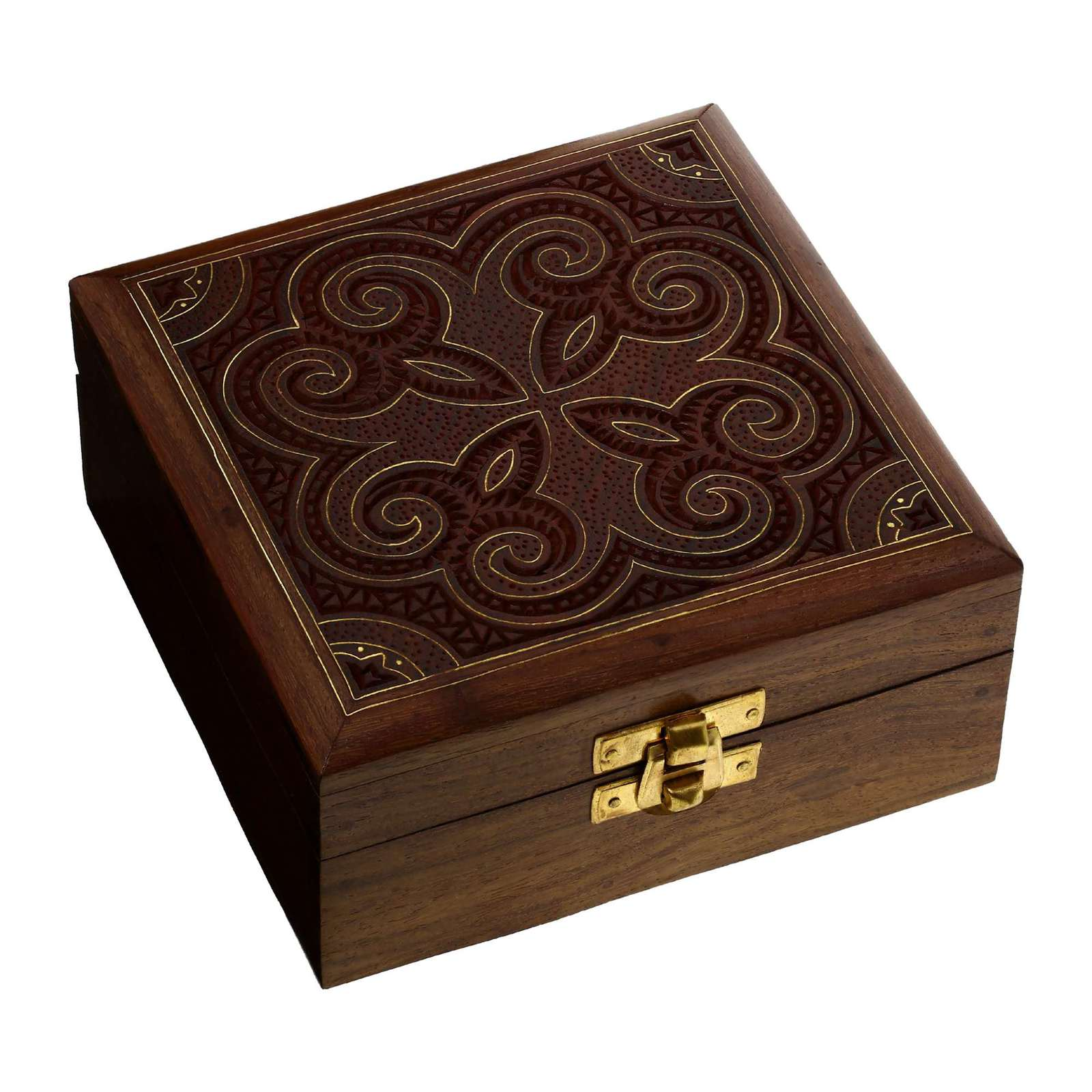 Handcrafted jewelry box wood storage box carved sister for Handmade wooden jewelry box