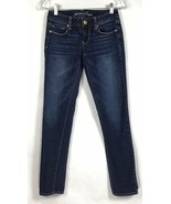American Eagle Womens Size 00 Regular Skinny Stretch Denim Jeans Dark Wa... - $24.87