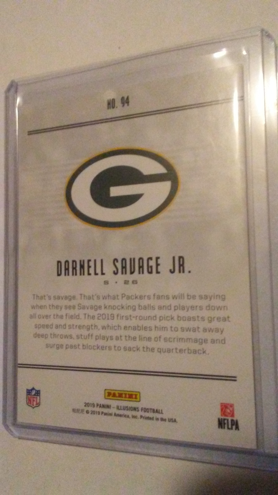 2019 Panini Illusions Darnell Savage Jr  RC Green Bay Packers