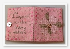 Delicate Dogwood Needlebook kit cross stitch kit Fern Ridge Collections - $27.90