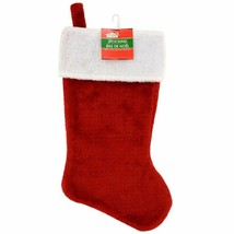 Christmas Plush Red Stocking, 18 in. w - $5.99