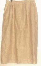 Women's Beige 100% Linen Skirt Size 12 Talbots - $18.99