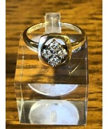 14k Yellow Gold Diamond Vega Fashion Ring 4.6g Size 6.5 - $332.49