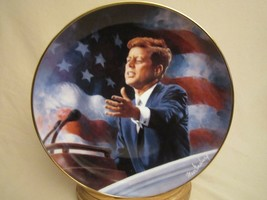 A TRIBUTE TO JOHN F. KENNEDY Collector Plate PRESIDENT JFK Max Ginsburg - $29.99