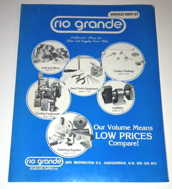 vintage rio grande jeweler 39 s supply catalog and 50 similar