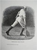 LAWN TENNIS Engraved WOODCUT Print 1800's Antiq... - $6.00