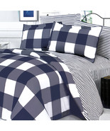 [Navy & White] 3PC Duvet Cover Combo(Twin Size) - $69.99