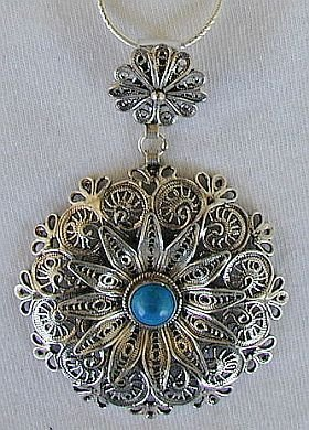 Classic turquoise pendant a