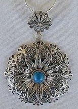 Classic turquoise pendant - $52.00