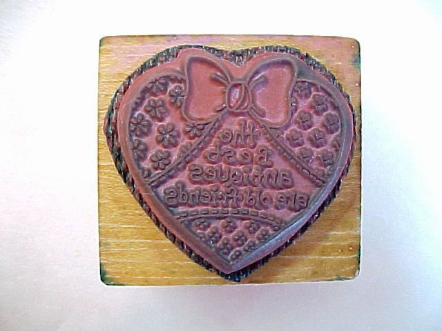 The Best Antiques Are Old Friends Wood Mounted Rubber Stamp by PSX -No. C-907