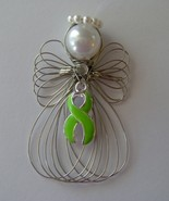Lymphoma Awareness Angel Ornament Handmade - $8.00