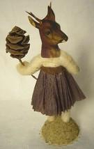 Vintage Inspired Spun Cotton Deer Girl Figurine No.362 Christmas Putz image 2
