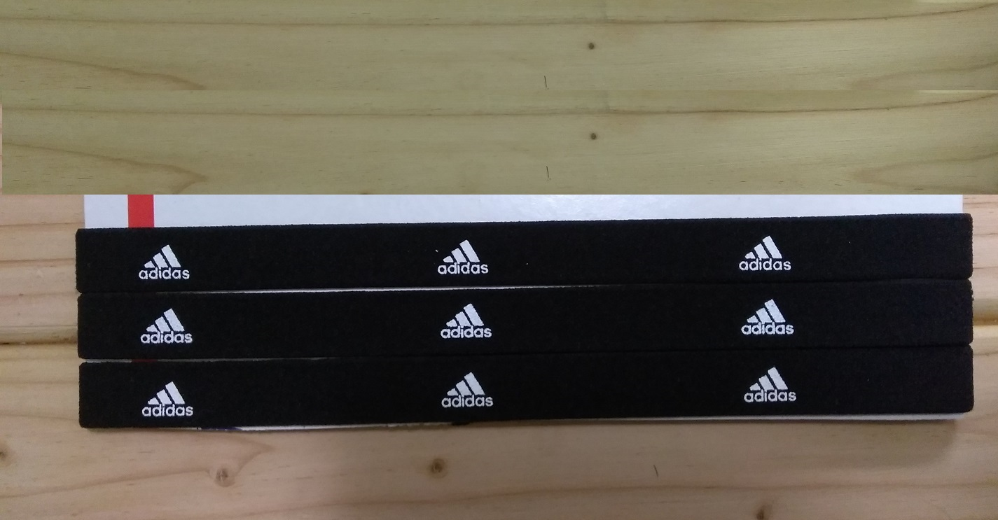 Primary image for New Unisex Adidas Running HEADBAND Black White Logo One Size All Sports