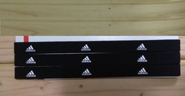 New Unisex Adidas Running HEADBAND Black White Logo One Size All Sports  - $6.00