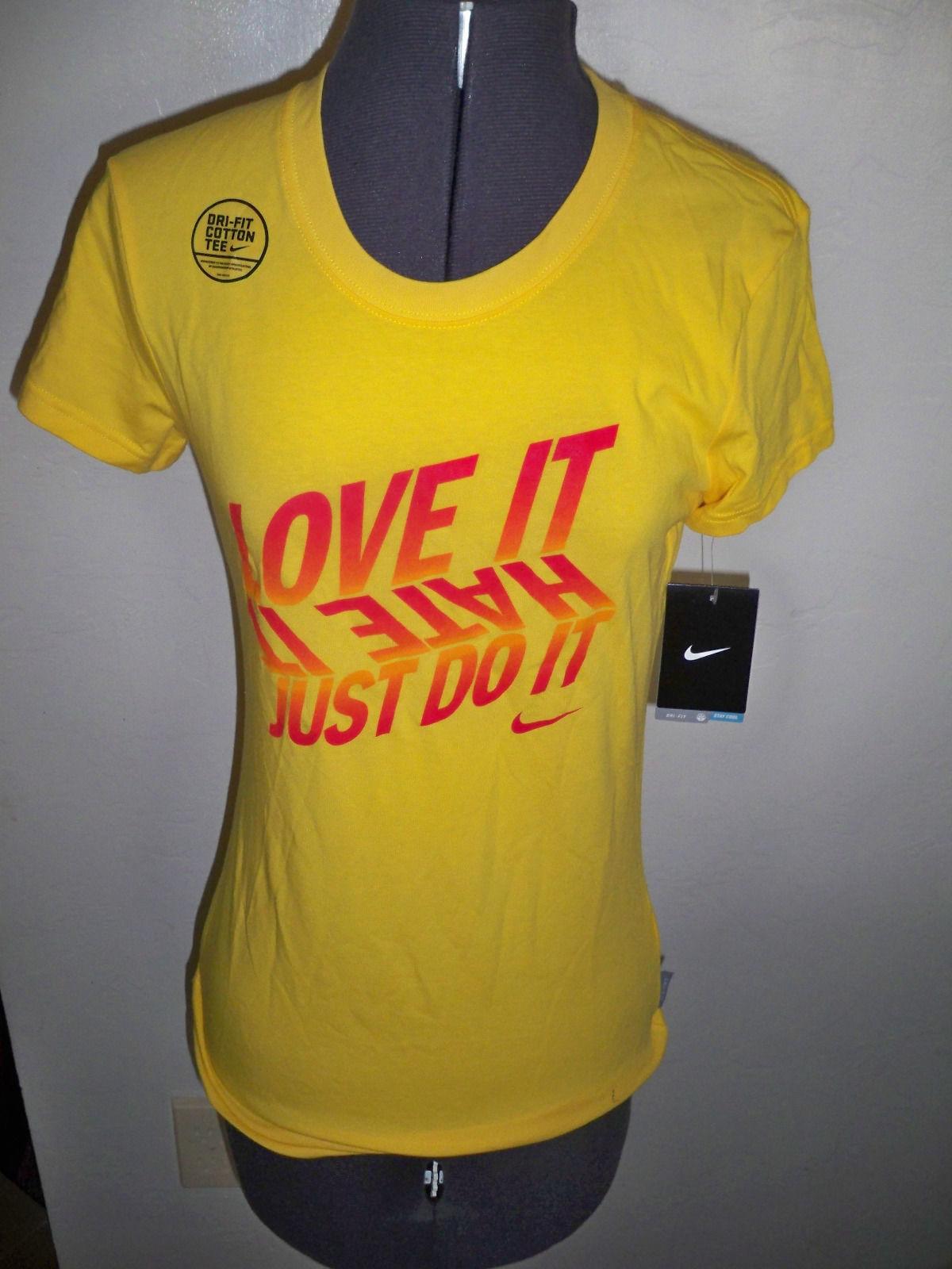 Womens Nike Love It Hate It Just Do It Dri Fit Tee T Shirt