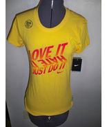 WOMENS NIKE LOVE IT HATE IT JUST DO IT DRI-FIT TEE T SHIRT YELLOW NEW $2... - $16.99