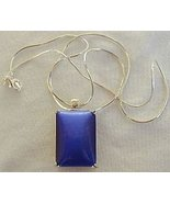 Blue cat eye pendant - $33.00