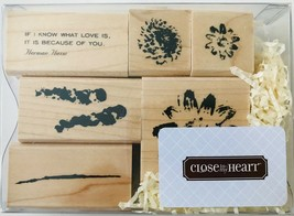 Flowers 6 Rubber Stamps Watercolor Style Close To My Heart S860 New NRFB - $13.54