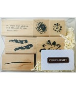Flowers 6 Rubber Stamps Watercolor Style Close To My Heart S860 New NRFB - $8.89