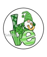 """30 ST PATRICKS DAY GNOME ENVELOPE SEALS LABELS STICKERS 1.5"""" ROUND LOVE ... - $4.99"""