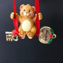 Carlton Cards Heirloom Collection Christmas Ornament 2005 New Home Bear Box - $45.00
