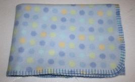 Parents Choice Yellow Polka Dots Blue Fleece BA... - $15.44