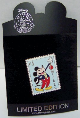 DISNEY MICKEY CHRISTMAS POSTAGE STAMP LE 250 PIN NEW