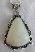 White moon pendant - $45.00