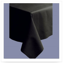 82 x 82 Linen Like Black Color In Depth Tablecover/Case of 12 - $199.86