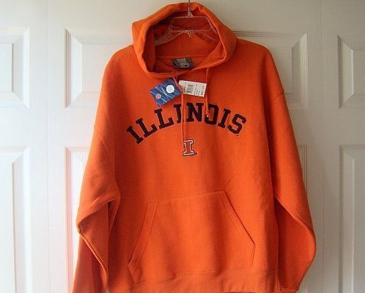 UNIVERSITY OF ILLINOIS UIC Embroidered Hoodie size Large FIGHTING ILLINI NEW NWT