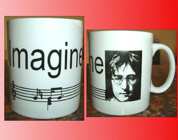 JOHN LENNON IMAGINE CERAMIC MUG The Beatles