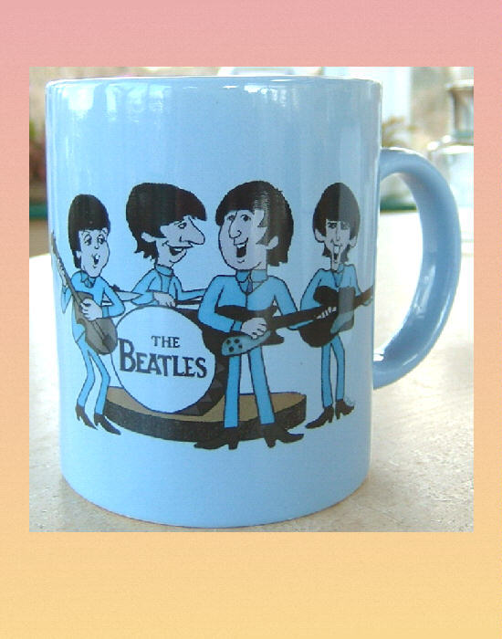 THE BEATLES Cartoon CERAMIC MUG