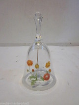 Vintage Avon 24% Lead Crystal Floral Design Decorative Bell - $9.99