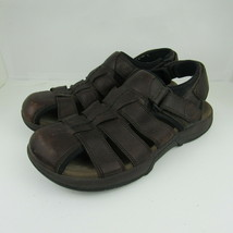Merrell Montana Brown Size 11 M Mens Leather Fisherman Sports Sandals Strappy - $35.52