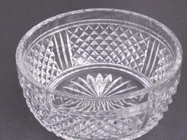 Signed  Webb Hand Cut Glass  bowl english blown blank - $54.82