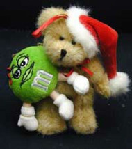 "Boyds Bears ""Holly w/Green M & M"" #919030- 5"" Santa M & M Ornament-New-R... - $16.99"