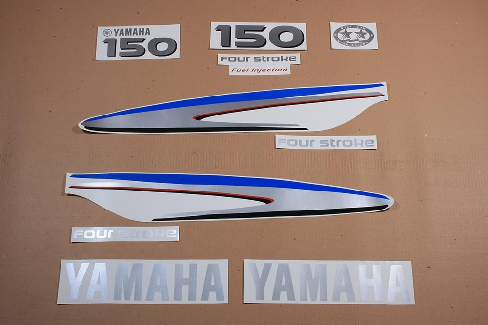 Yamaha outboard 4 four stroke 150 hp or 75 80 90 100 115 for Yamaha boat decals graphics