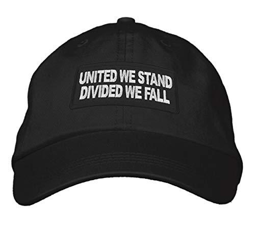 United We Stand Divided We Fall Hat - Adjustable Strapback Dad Cap