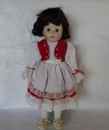 Porcelain Collectors Doll Short Dark Brown hair... - $30.00
