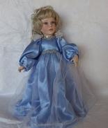 Porcelain Collectors Doll Blond hair Blue Dress... - $30.00