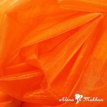 """1 yard X 60"""" ORANGE SHEER MIRROR ORGANZA STIFF FABRIC for Wedding & Crafts - $3.95"""