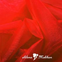 """1 yard X 60"""" RED SHEER MIRROR ORGANZA STIFF FABRIC for Wedding & Crafts - $3.95"""