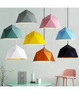 Nordic Wrought Iron Macarons Pendant Lamp Single-headed Polygonal E27 Light - $70.29+