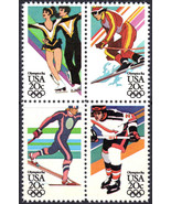 1984 20c Winter Olympics, Sarajevo, Bosnia Block of 4 Scott 2067-70 Mint... - $1.78