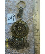 # purse jewlrey bronze color keychain backpack filigree dangle charms #24 - $4.19