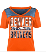 NFL Women's Short Sleeve Crossover V-Neck Tee SZ XL - $19.00